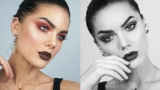 Rose Gold Eyes & Dark Lips | Linda Hallberg Tutorials