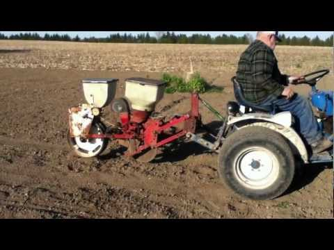 Planting Sweet Corn With Homemade Corn Planter YouTube