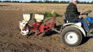 Planting Sweet Corn With Homemade Corn Planter