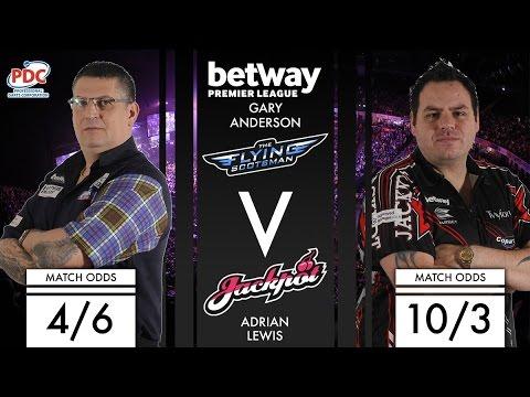 2017 Premier League of Darts Week 9  Anderson vs Lewis