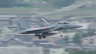 航空自衛隊岐阜基地 レアパターンR/W10運用 着陸を山から俯瞰撮影 JASADF Gifu A.B. '14/5/26