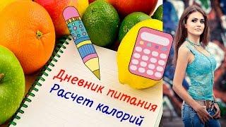 Дневник питания. Как вести пищевой дневник? | Подсчет калорий| Калорийность рациона| Juliy@