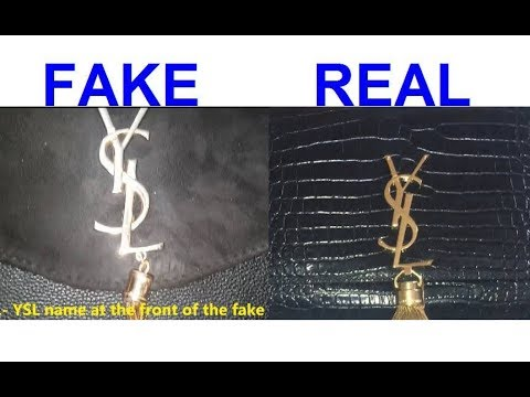 99f464a505c Real vs Fake YSL handbag. How to spot fake Yves Saint Laurent - YouTube