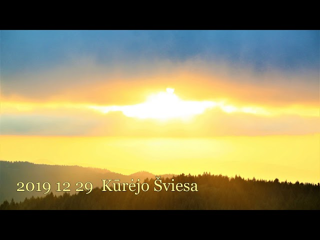 2019 12 29 Pranešimas ašrame: Kūrėjo Šviesa