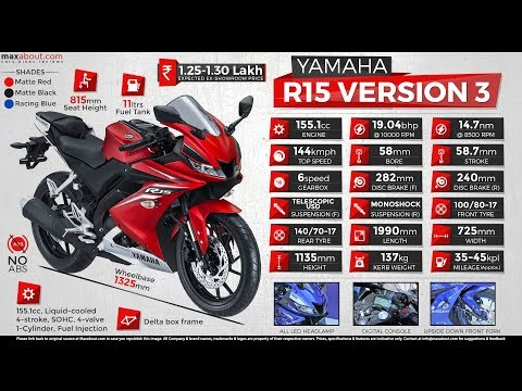 Yamaha R15 Version 3 Full Details | R15 Version 3 Full Specification | Tamil Automobile Channels