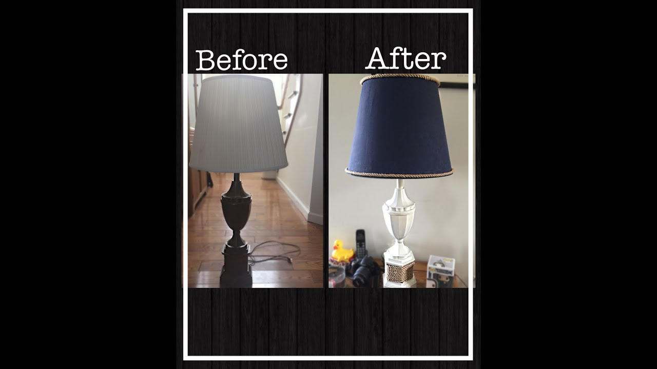 DIY BEACH LAMP MAKEOVER