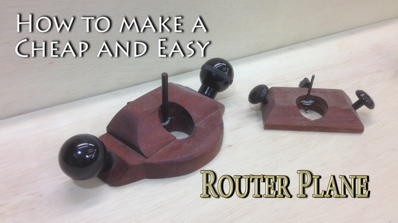 Diy Router Plane With Chisel