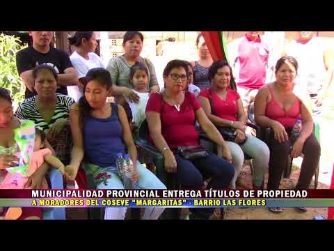 MPAA ENTREGA TÍTULOS DE PROPIEDAD EN COSEVE LAS MARGARITAS