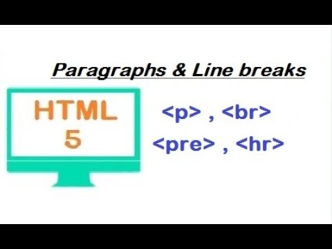 HTML Tutorial For Beginners - Paragraph, Line Breaks, Spacing And Horizontal Rule