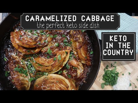 Low Carb Keto Spicy Caramelized Cabbage Side Dish
