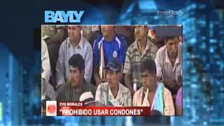 Evo Morales le dice a los bolivianos que no usen condones.