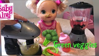 BABY ALIVE Pumpkins Lunchtime Routine Green Veggies Baby Alive Videos