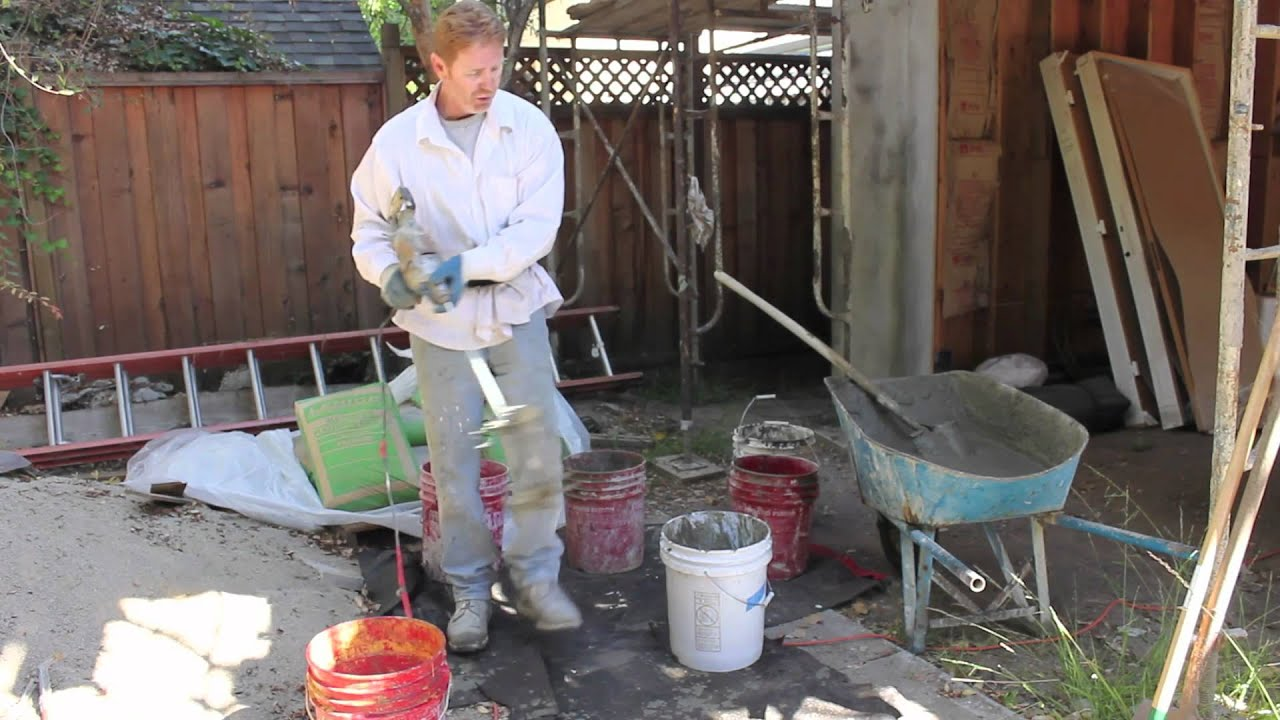 Calcium Aluminate Cement Home Depot : Mixing additives or accelerators with portland cement plaster