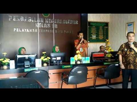 Teleconfrence PN Ciamis Dengan Bapak Dirjen Badilum (Peresmian PTSP Se - Jawa Barat)