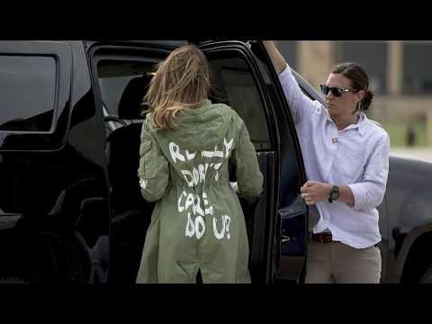 """I REALLY DON'T CARE, DO YOU?"": Was will Melania Trump mit dieser Jacke sagen?"