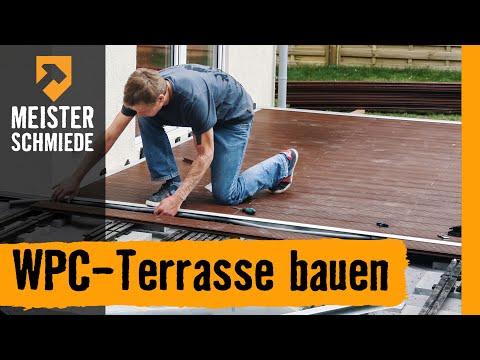 meisterschmiede wpc terrasse bauen youtube