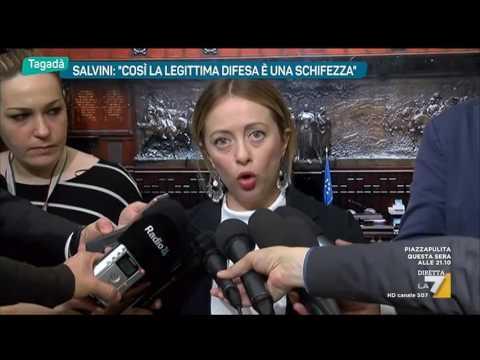 Legittima difesa, Salvini:'Così è una schifezza'