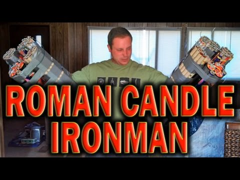 IRON MAN FIREWORKS MACHINE GUNS - Roman Candles - YouTube