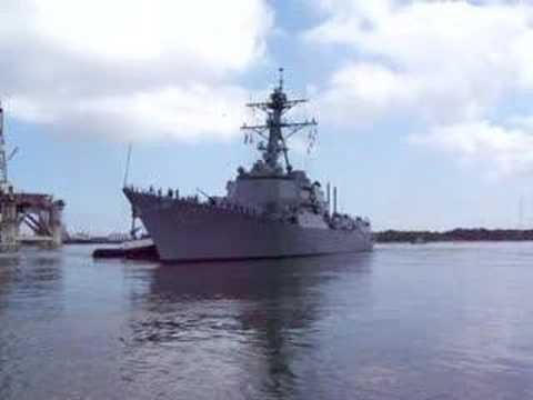 U.S.S. Kidd headed out to sea
