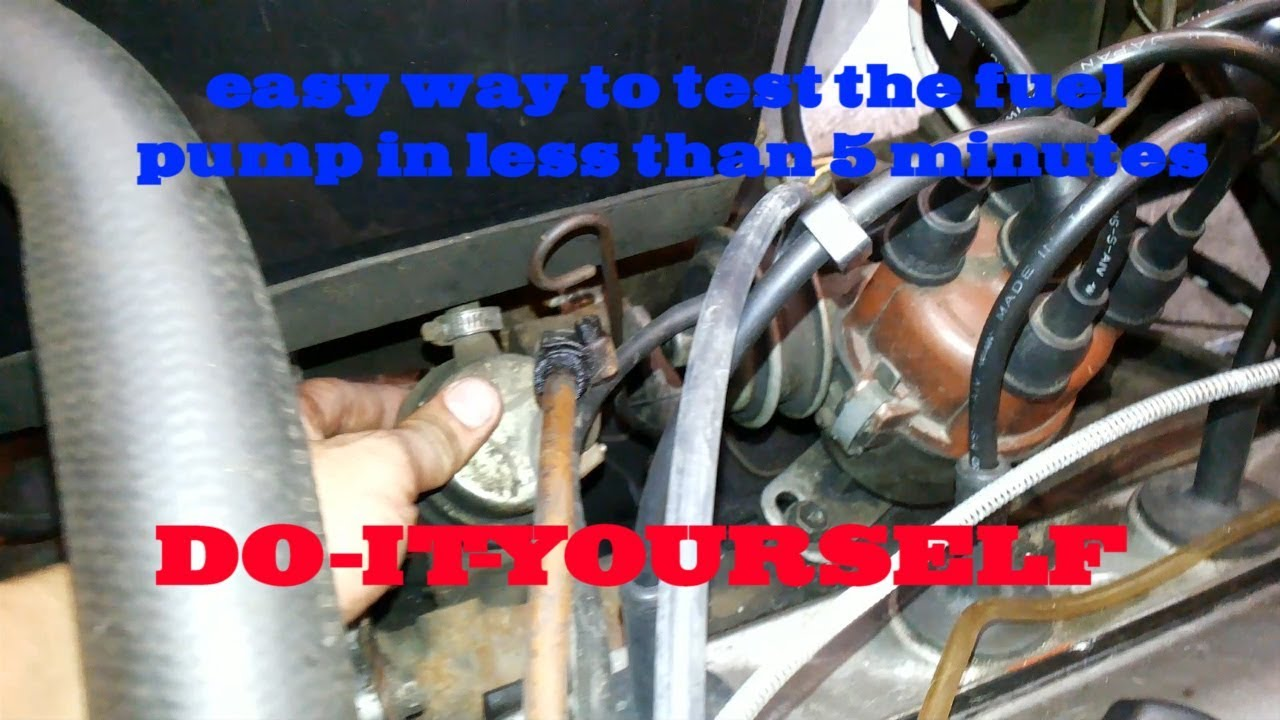 how to test fuel pump on a toyota 4k engine english subtitle