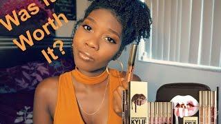 Kylie Cosmetics GOLD BIRTHDAY EDITION on Dark Skin