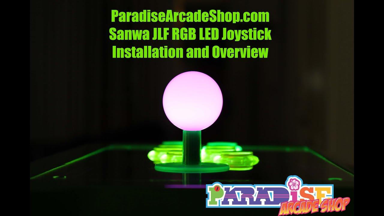 ParadiseArcadeShop com Sanwa JLF RGB LEF Joystick for Fightsticks