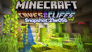 Minecraft 1.17 Snapshot 21w05b ▫ Lush Caves Are My New Favourite Thing ▫ Caves & Cliffs Update