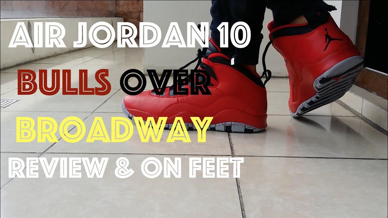 5af8cc387e776b 2015 Air Jordan 10 Bulls Over Broadway  BOB    Review   On Feet - YouTube