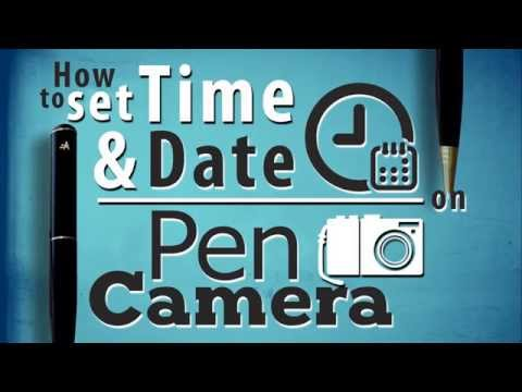 How To Set Time And Date On Spy Pen Camera
