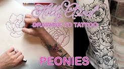 DRAWING TO TATTOO: Peonies
