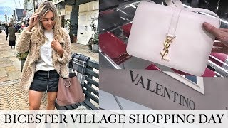 One of Em Sheldon's most viewed videos: COME LUXURY SHOPPING! NEW BICESTER VILLAGE DESIGNER OUTLET HAUL! Burberry, YSL, Valentino, Gucci