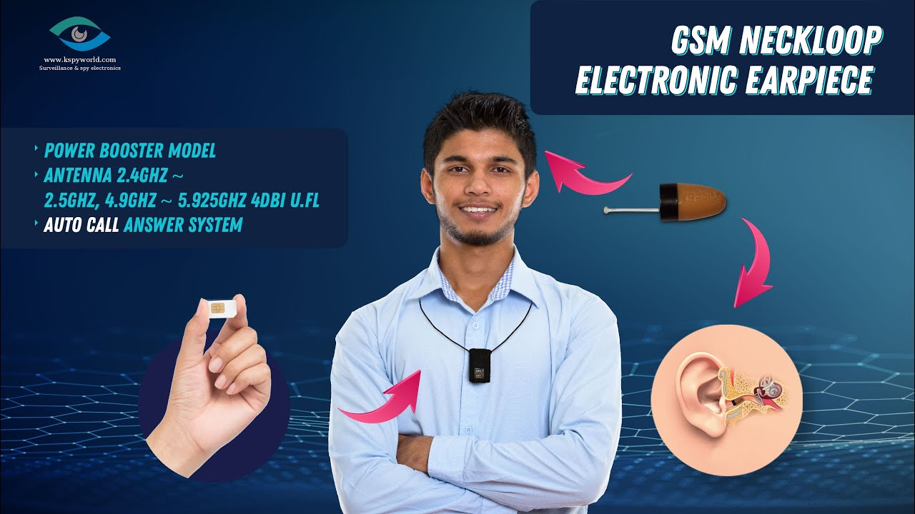 Spy earpiece Invisible Bluetooth with GSM neckloop Best quality sound