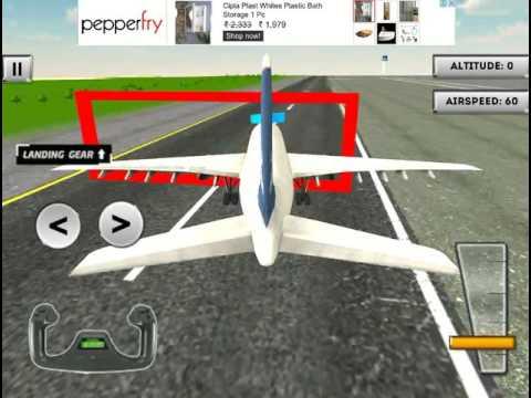 Real Airbus Flight Simulator - 3D Plane Flying Simulator Game iOS Gameplay - YouTube