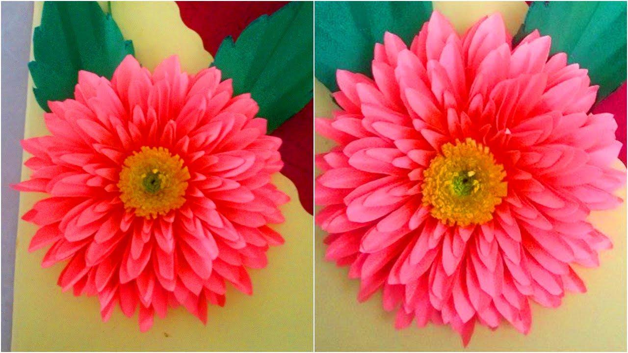 How To Make Paper Dahlia Flowers Step By Step Diy Paper Dahlia