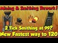 New! 2 Tick Smithing! 1m+ Xp/Hr!? [Runescape 3] Best way to 120 Smithing?