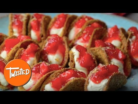 How To Make Mini Strawberry Cheesecake Tacos   Twisted
