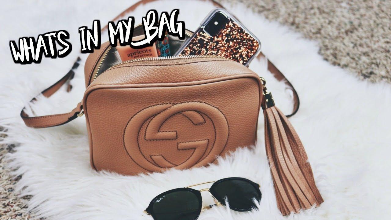 Gucci Soho Disco Bag Whats In My Purse Belinda Selene Youtube