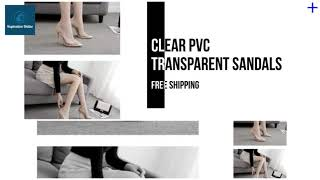 Women's shoes - Clear PVC Tran…