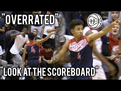 """Julian Newman SHUTS UP """"OVERRATED"""" CHANTS WITH 9 THREES! SHUSHES THE CROWD! POINTS AT SCOREBOARD"""