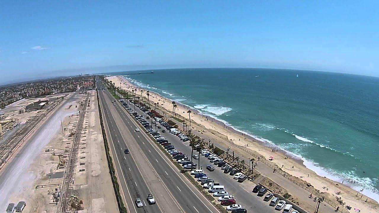 Flying Over Huntington Beach Pch Orange County Ca Dji Phantom 2 Vision Plus Drone