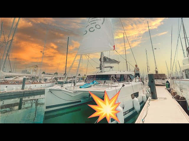 We CRASHED into the DOCK - Surely we're not CURSED - Catamaran Sailing Life Ep54