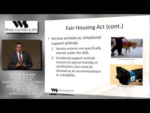 ADA and Fair Housing Act Application to Planned Communities