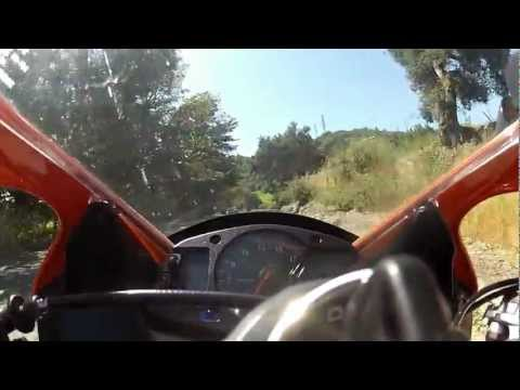Sonoma Mountain Backroads Wine Country Vineyards to Santa Rosa California CBR600RR GoPro