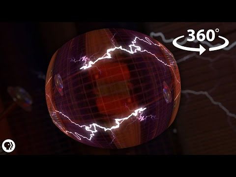 Between Two Tesla Coils! - 360 Video