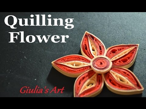 Papercraft How to make a Paper Quilling Flower - For beginners - DIY Crafts Tutorials - Giulia's Art