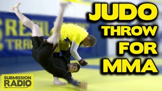 Dirty boxing JUDO THROW (Koshi Guruma) for MMA! - By UFC Fighter/Olympian Dan Kelly