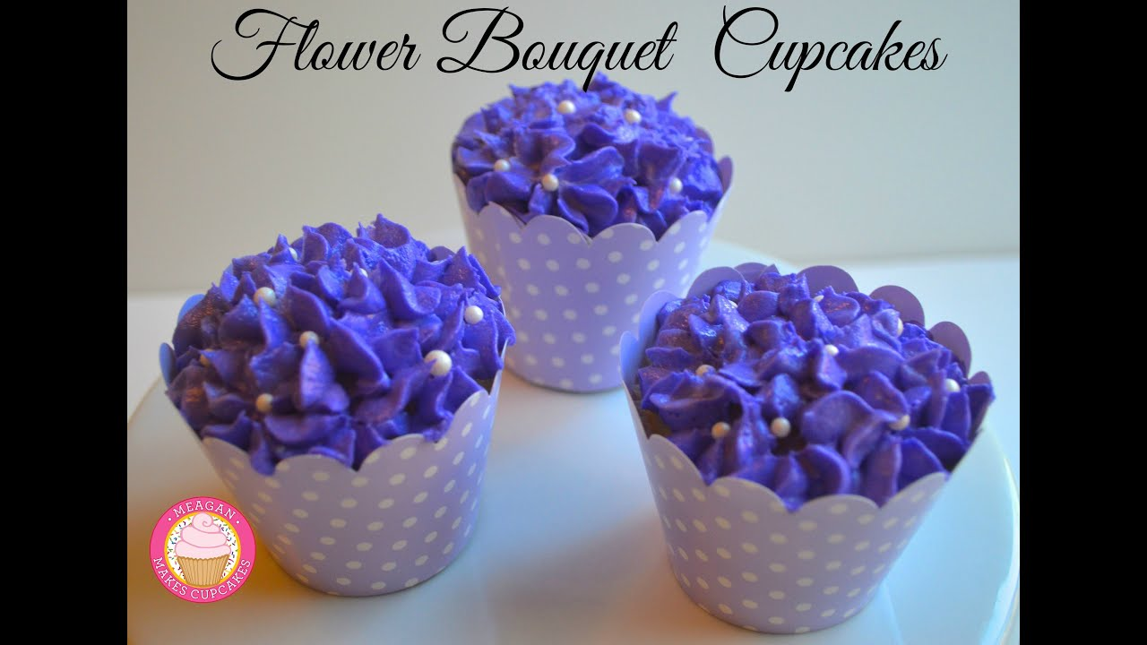 Flower Bouquet Cupcakes for Mother's Day - YouTube
