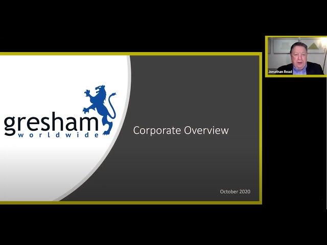 DPW's Second Annual Investor Conference 2020 Gresham World Wide Presentation