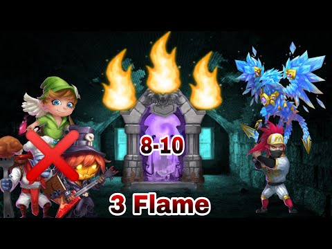 Insane 8-10 | 3 Flame | Without Pd/mike/walla/Lava😎😳😎😳 | Full Set Up Detail  | Castle Clash