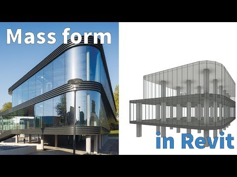 Learn Revit in 5 minutes: Mass in revit [quick overview] (Quick modelling)